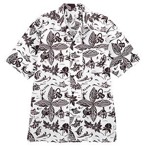 ユニセックス アロハシャツ FB502U−5 ブラウン