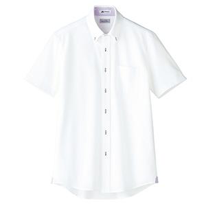 メンズ 吸水速乾 ニット 半袖シャツ FB5027M−19 台衿裏:パープル