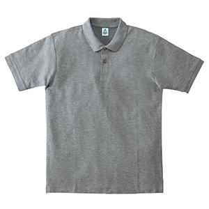 鹿の子ドライポロシャツ MS3113−2 杢グレー