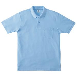 ポケット付鹿の子ドライポロシャツ MS3114−6 サックス