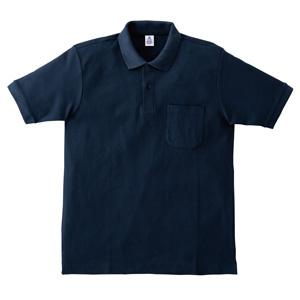 ポケット付鹿の子ドライポロシャツ MS3114−8 ネイビー