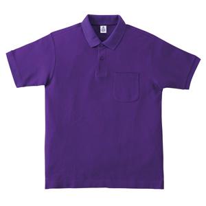ポケット付鹿の子ドライポロシャツ MS3114−14 パープル