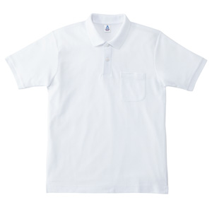 ポケット付鹿の子ドライポロシャツ MS3114−15 ホワイト
