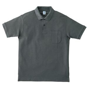 ポケット付鹿の子ドライポロシャツ MS3114−22 チャコールグレー