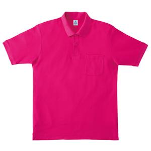 ポケット付鹿の子ドライポロシャツ MS3114−29 ショッキングピンク