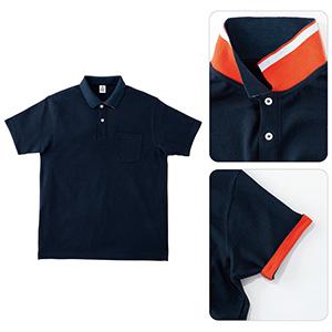 2WAYカラーポロシャツ MS3116−8 ネイビー