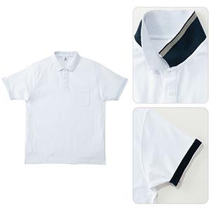 2WAYカラーポロシャツ MS3116−15 ホワイト