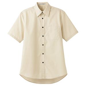 ブロードレギュラーカラー 半袖シャツ FB4527U−1 ベージュ