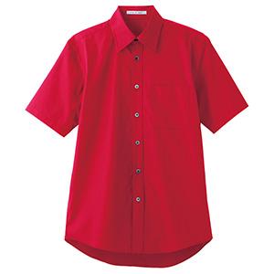 ブロードレギュラーカラー 半袖シャツ FB4527U−3 レッド