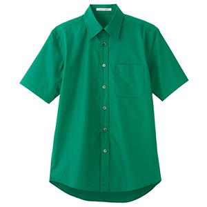 ブロードレギュラーカラー 半袖シャツ FB4527U−4 グリーン