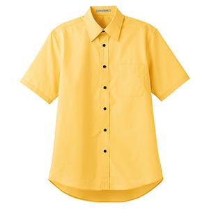ブロードレギュラーカラー 半袖シャツ FB4527U−10 イエロー
