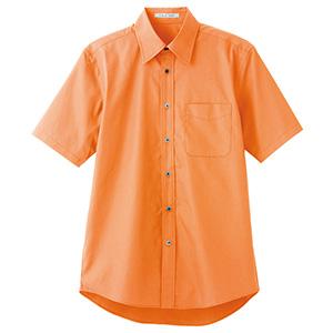 ブロードレギュラーカラー 半袖シャツ FB4527U−13 オレンジ