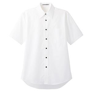 ブロードレギュラーカラー 半袖シャツ FB4527U−15 ホワイト