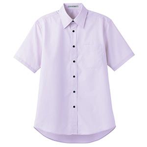 ブロードレギュラーカラー 半袖シャツ FB4527U−19 パープル