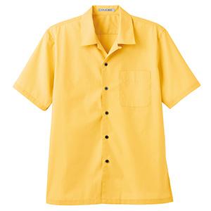 ブロードオープンカラー 半袖シャツ FB4529U−10 イエロー