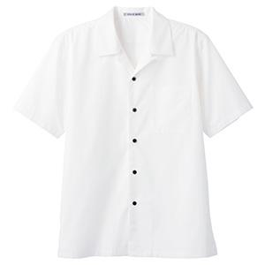 ブロードオープンカラー 半袖シャツ FB4529U−15 ホワイト
