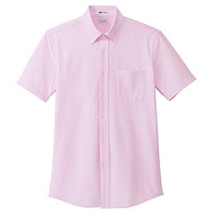 メンズ ニット吸汗速乾 半袖シャツ FB5029M−9 ピンク