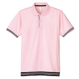 裾ラインリブポロシャツ MS3117−9 ライトピンク