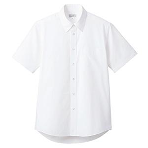 ブロード レギュラーカラー 半袖シャツ FB4535U−15 ホワイト