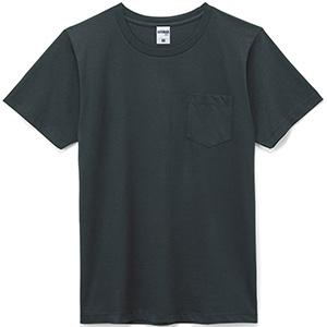 5.3オンスユーロポケット付きTシャツ MS1141P−16P ブラック