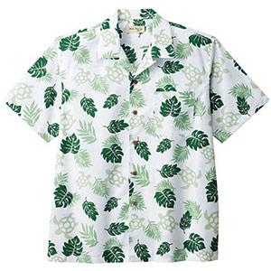 ユニセックス アロハシャツ ウミガメ FB4545U−4 グリーン