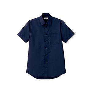 メンズ レギュラーカラー半袖シャツ FB5041M−8 ネイビー