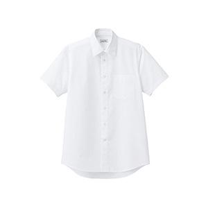 メンズ レギュラーカラー半袖シャツ FB5041M−15 ホワイト