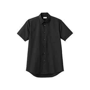 メンズ レギュラーカラー半袖シャツ FB5041M−16 ブラック