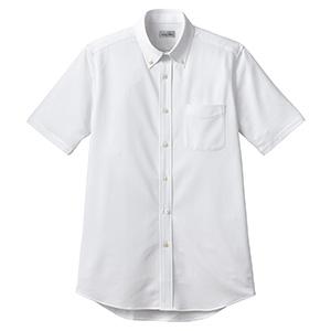 ボタンダウンニット半袖シャツ FB4558U−15 ホワイト