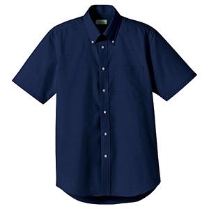 オックスフォード半袖シャツ FB4511U−8 ネイビー