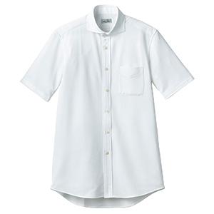 ワイドカラーニット半袖シャツ FB4560U−15 ホワイト