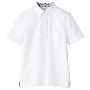 レディス吸水速乾 ポロシャツ チェック FB4017L−15 ホワイト (S〜3L)