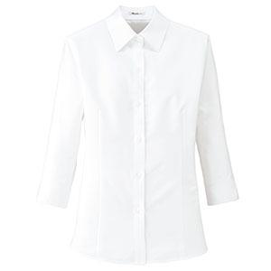 Rizal 七分袖ブラウス RB4700−15 ホワイト (5〜19号)