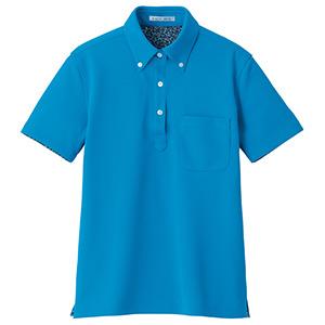 レディス吸水速乾ポロシャツ 花柄A FB4018L−26 ターコイズ