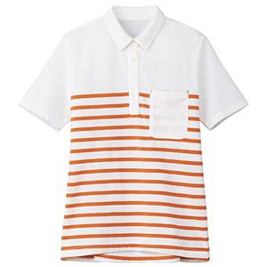 レディスボーダーポロシャツ TB4003L−13 オレンジ