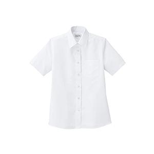 レディス レギュラーカラー半袖ブラウス FB4036L−15 ホワイト