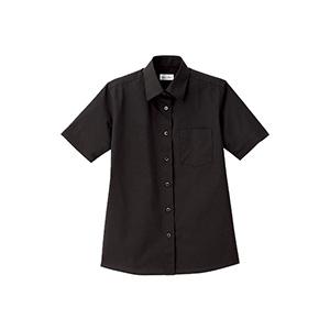 レディス レギュラーカラー半袖ブラウス FB4036L−16 ブラック