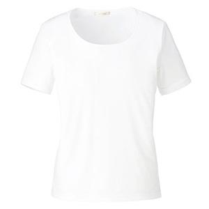ラウンドネック半袖ニット BCK7300−15 ホワイト