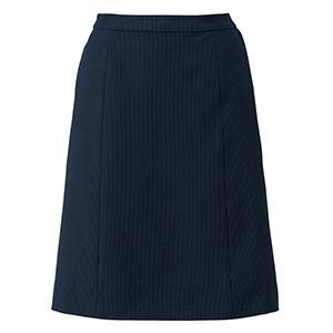Le'ger Aラインスカート LS2753−28 ネイビー×ブルー (5〜19号)