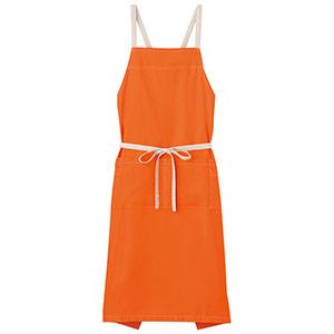 胸当てエプロン FK7055−13 オレンジ
