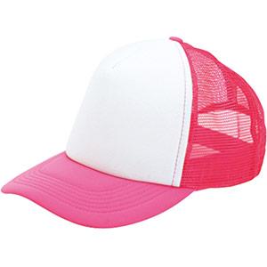 アメリカンキャップ MC6615−49 蛍光ピンク×ホワイト