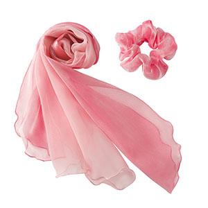BA9133−9 スカーフ ピンク