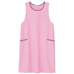 胸当てエプロン 花柄トリミングB FK7147−9 ピンク