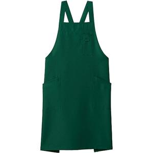 バッククロス胸当てエプロン FK7163−4 グリーン