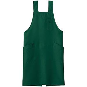 H型胸当てエプロン FK7164−4 グリーン