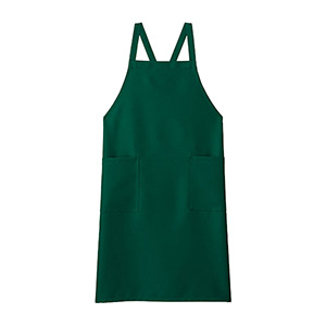 胸当てエプロン FK7168−4 グリーン
