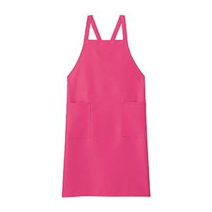 胸当てエプロン FK7168−9 ピンク