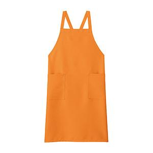 胸当てエプロン FK7168−13 オレンジ
