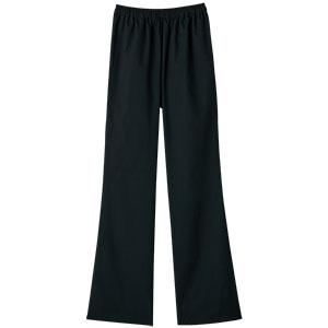スクラブ 女性用 ブーツカットパンツ 6005SC−9 ブラック