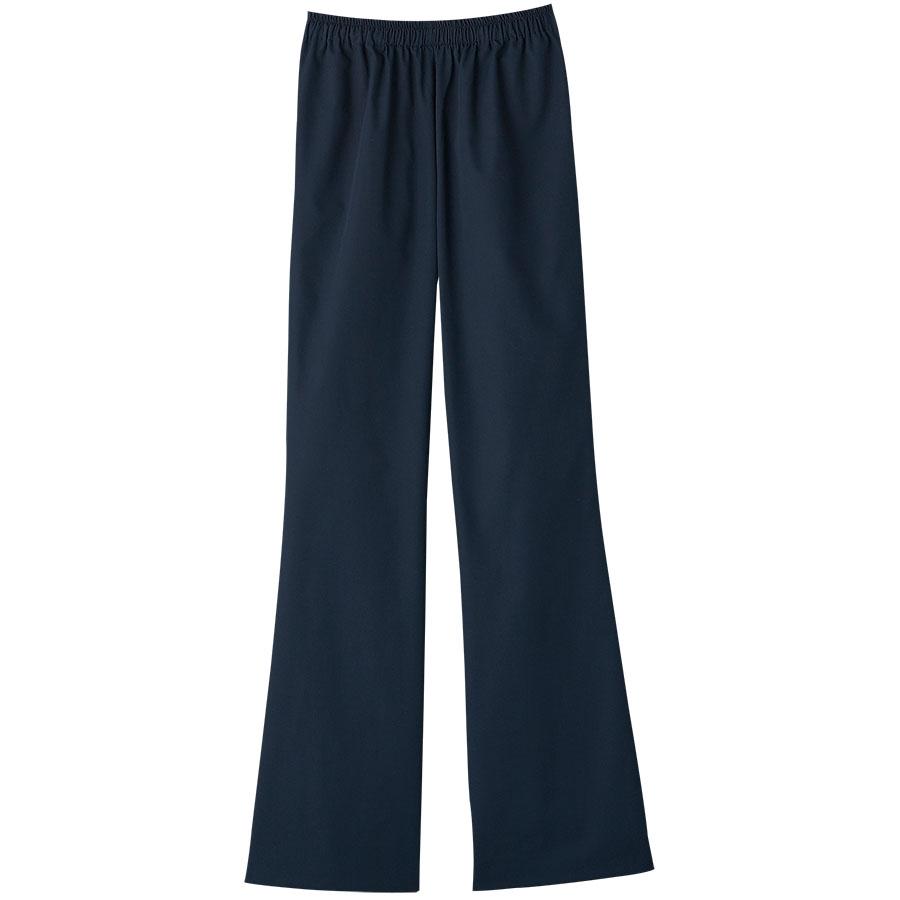 スクラブ 女性用 ブーツカットパンツ 6005SC−17 ダークネイビー